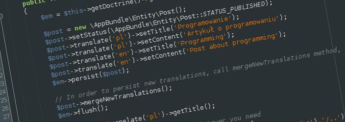 Working with Symfony and Doctrine entities translations - Notatki